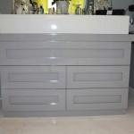 Wash basin cabinet, MDF spray painted high gloss