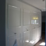 Clothing cupboard, MDF with up lay and spray painted high gloss