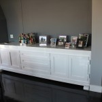 Side board – from MDF, spray-painted high gloss
