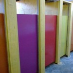 Toilet Doors at Orange Kloof together with the Rotary Club