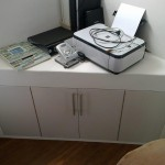 Change wash basin stand to office space