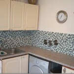 Mosaic tiling in kitchen
